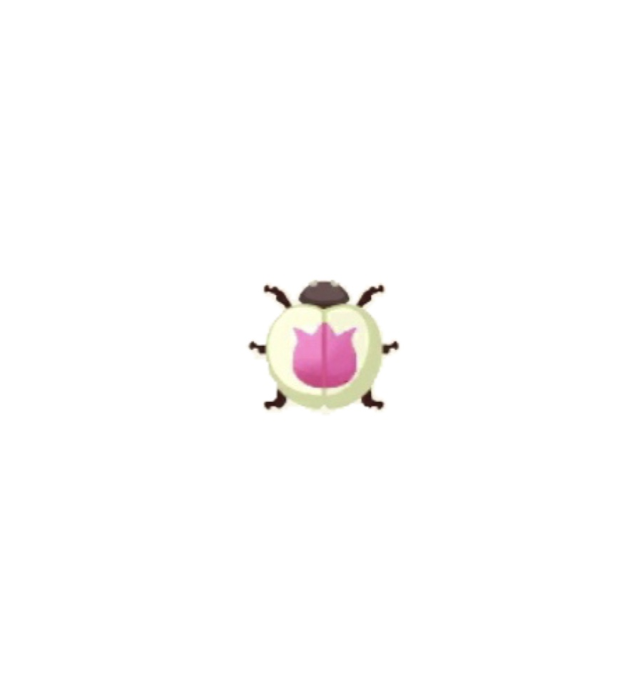 ポケ森 ピンクのチューリップテントウ