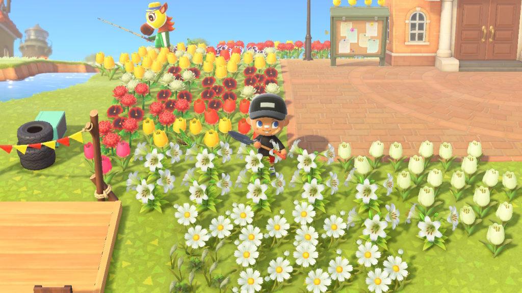 あつ森 大量の花