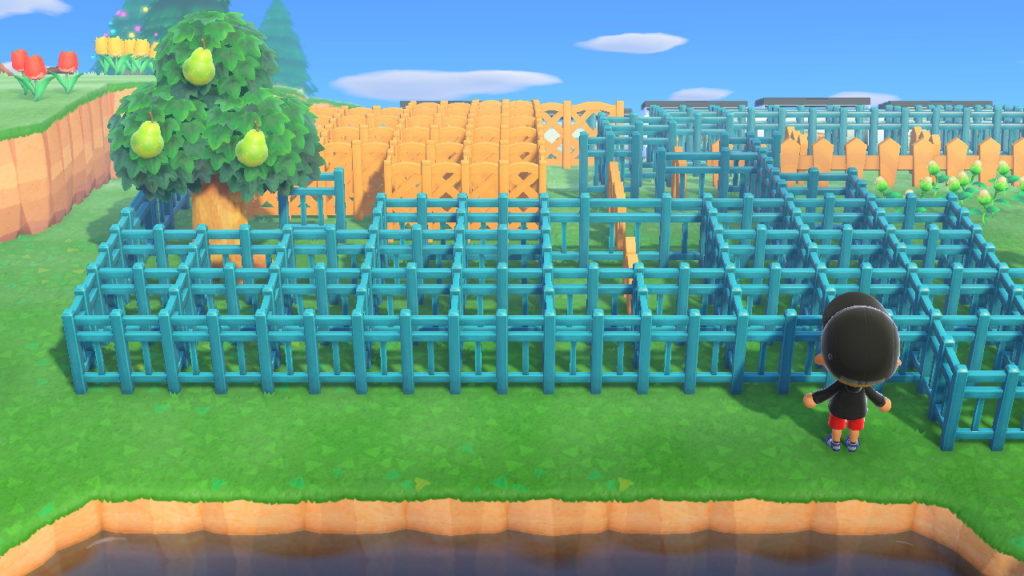 あつ森 異様に密集する柵の写真