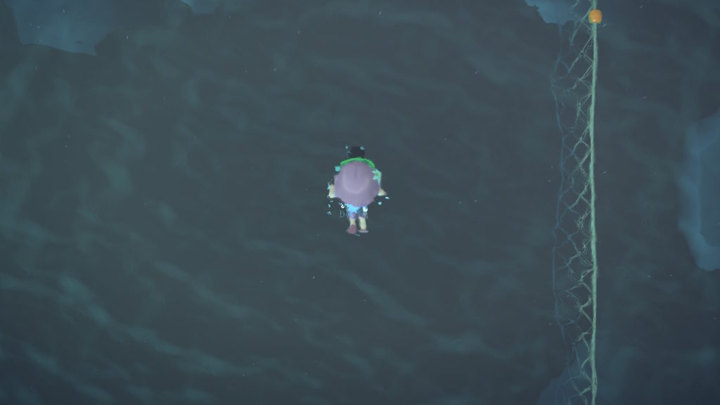 あつ森 素潜りの魚影