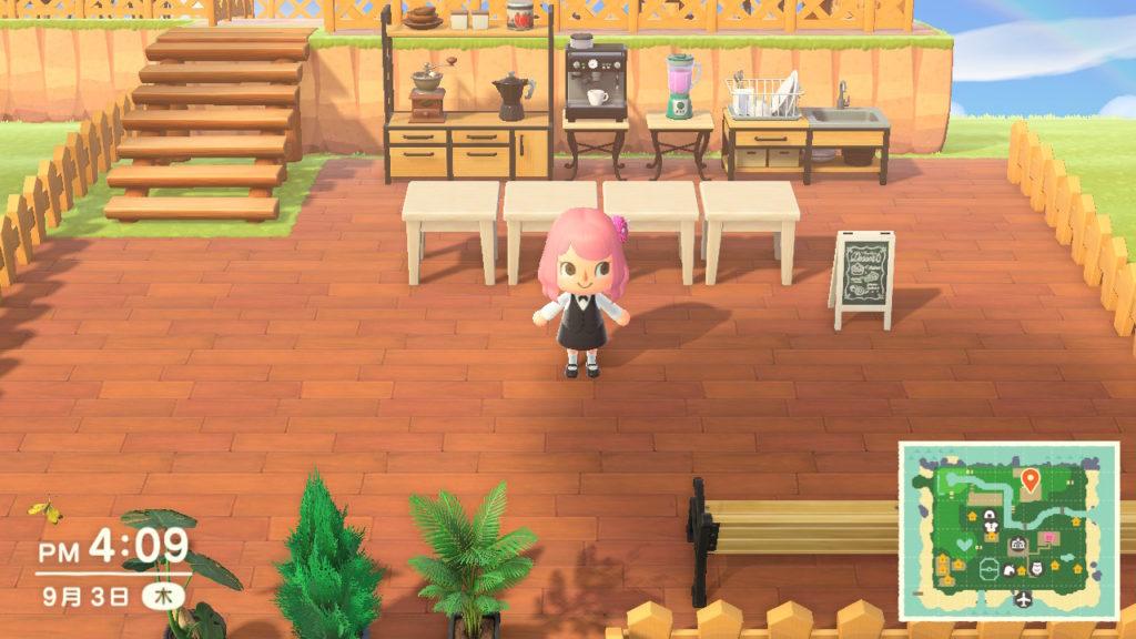 あつ森 カフェ 1階