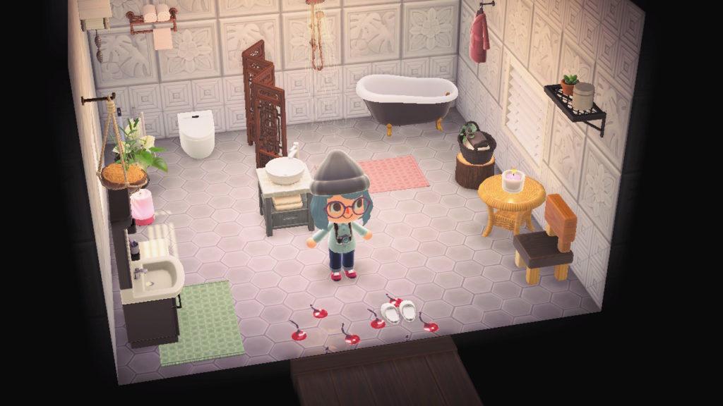 あつ森 バスルームのレイアウト