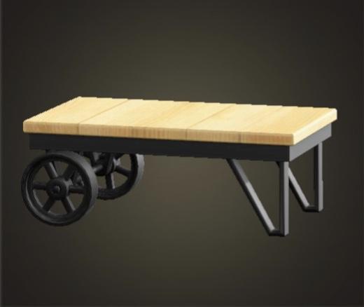 あつ森 アイアンウッドローテーブル