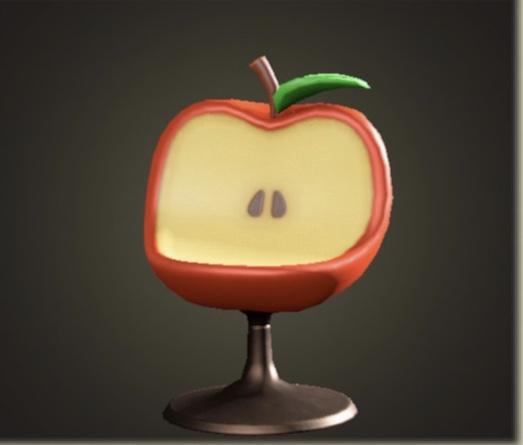 あつ森 リンゴのチェア