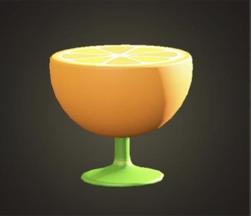 あつ森 オレンジのサイドテーブル