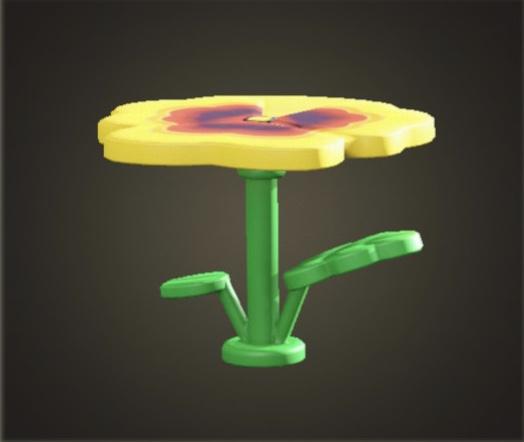あつ森 パンジーのテーブル
