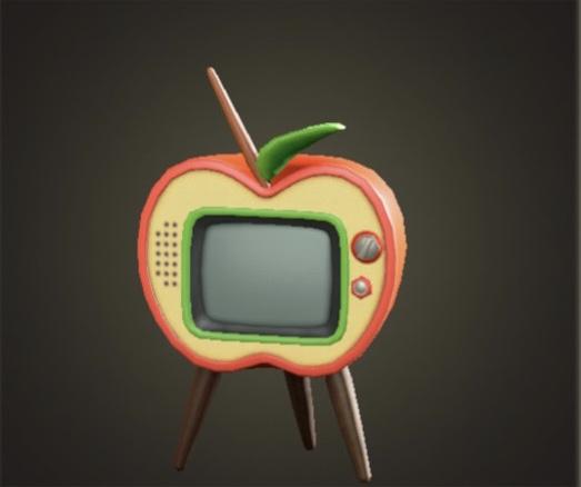 あつ森 リンゴのテレビ