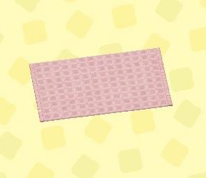 あつ森 ピンクのバスマット