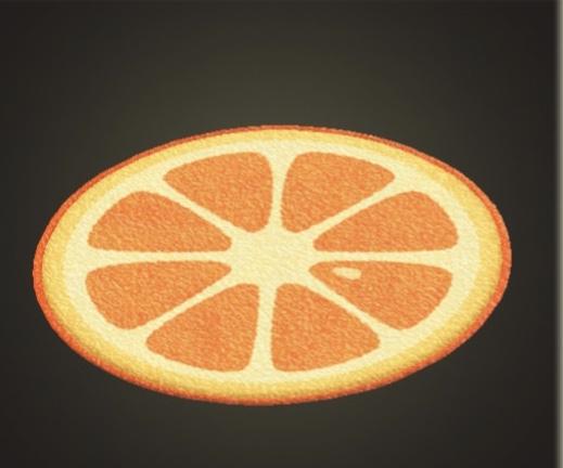 あつ森 オレンジのラグ