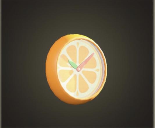 あつ森 オレンジのかべかけどけい