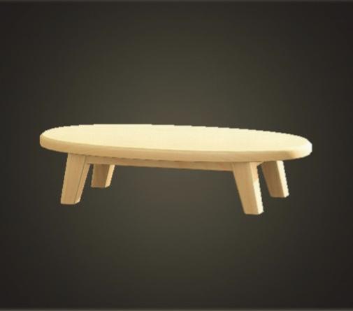 あつ森 もくせいローテーブル