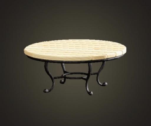 あつ森 ナチュラルなガーデンテーブル