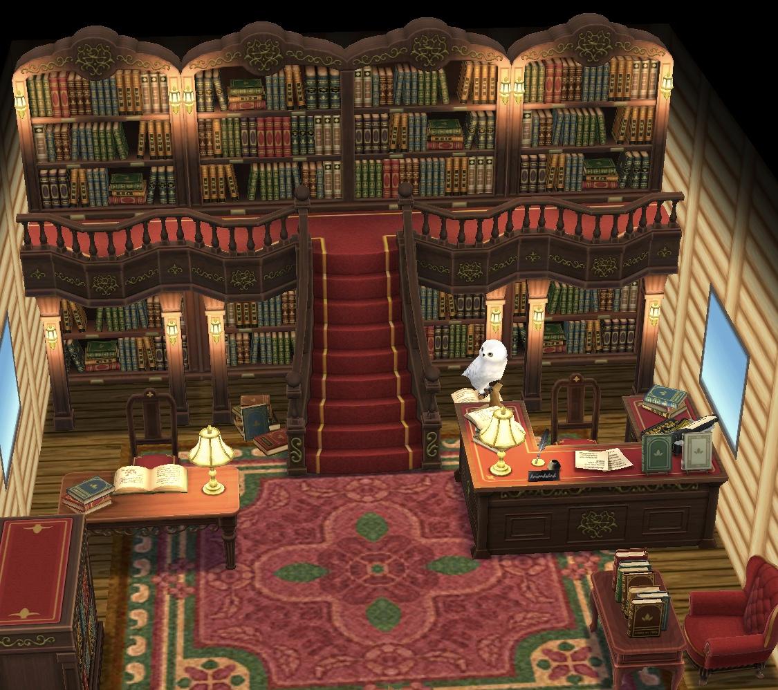 ポケ森 コテージ 図書館