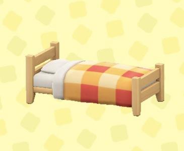 あつ森 もくせいのシングルベッド