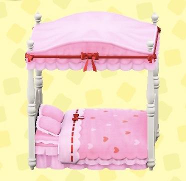 あつ森 キュートなベッド