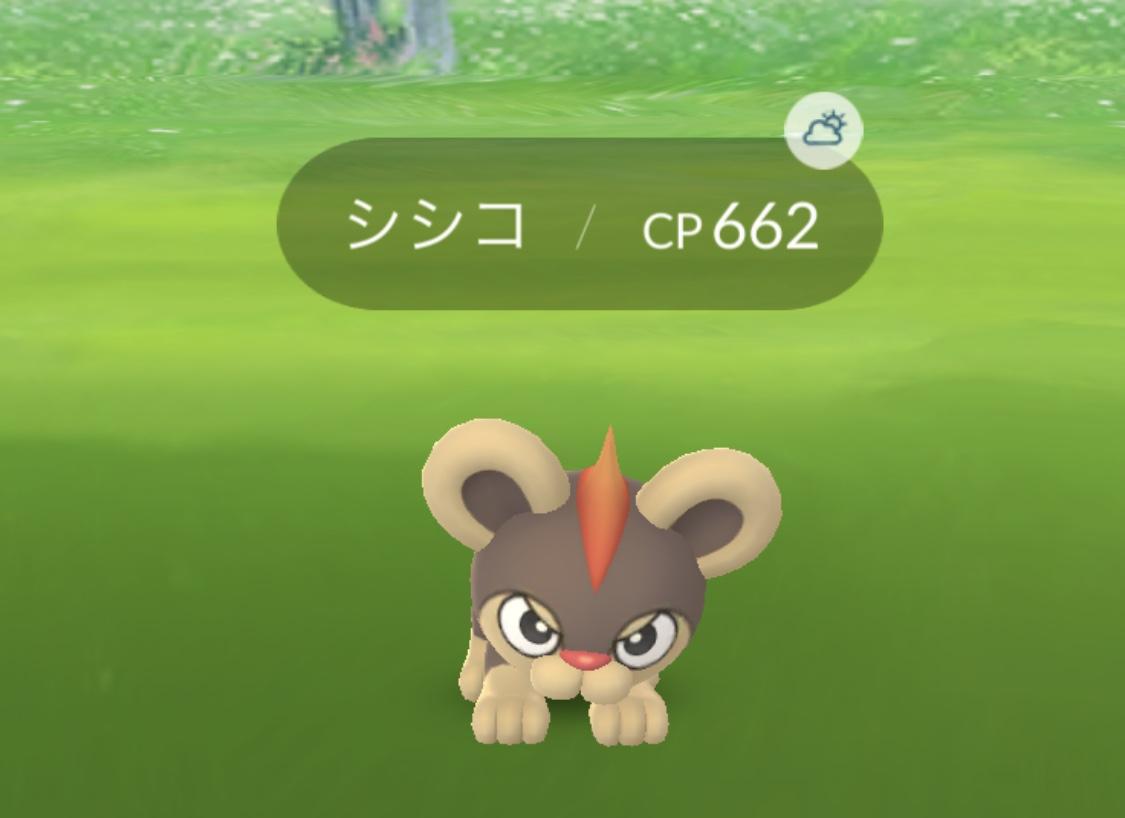 ポケモンGO カロス地方 シシコ